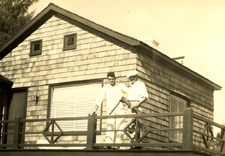 Edward and his father H.R. Anstis on Jupiter Island