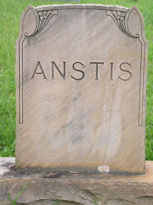 Grandmother's head stone